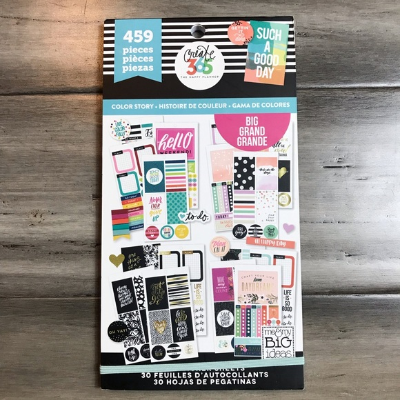Me & My Big Ideas Other - The Happy Planner Sticker Book - Color Story - Big